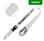 ML1029 - Bamboo lanyard with buckle. Min 100 pcs